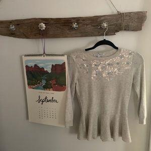 Autumn Cashmere Peplum Sweater